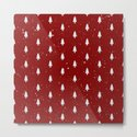 Cristmas Trees Pattern Red And White by lavieclaire