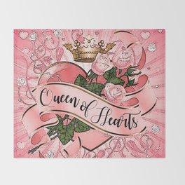 Wonderland - Queen of Hearts Throw Blanket