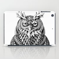 key iPad Cases featuring Great Horned Owl by BIOWORKZ