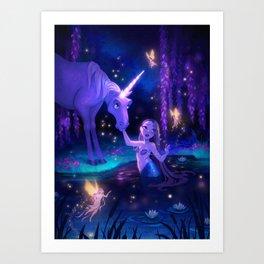Enchanted Lagoon Art Print