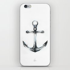Blue Anchor iPhone & iPod Skin