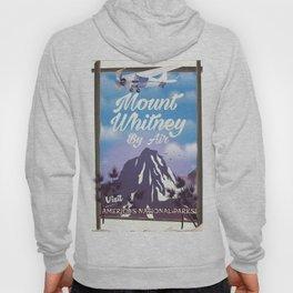 Mount Whitney vintage Travel poster Hoody