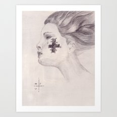 Tear & Cross Art Print