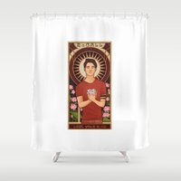 michael scott Shower Curtains featuring Scott by callahaa