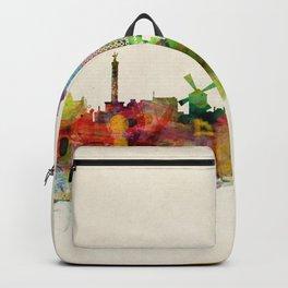 Paris Skyline Watercolor Backpack