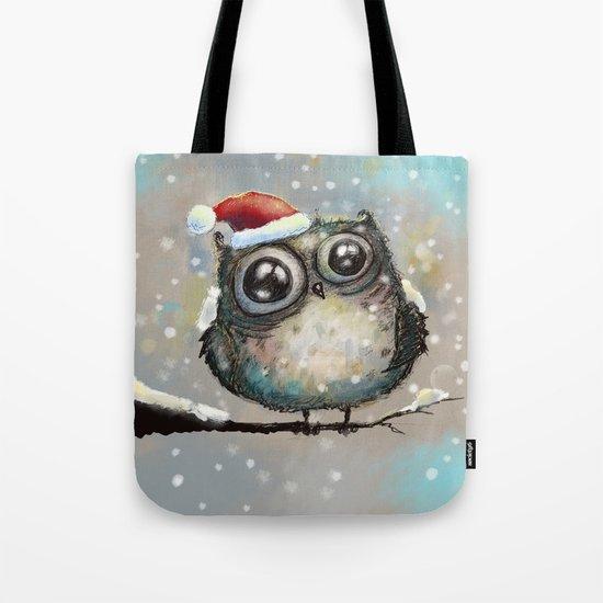 christmas owl Tote Bag
