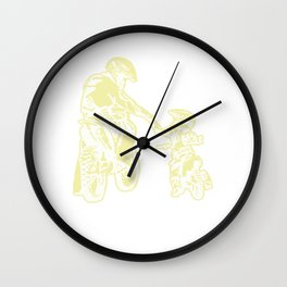 Dad Daddy Motorcycle Father's Day Motocross Gift Vintage Father And Son Wall Clock