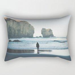 Tunnel Beach Rectangular Pillow