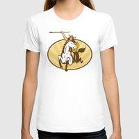 mythology T-shirts featuring  valkyrie of Norse mythology female rider warriors by patrimonio
