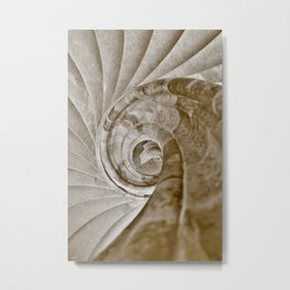 Sand stone spiral staircase 13 Metal Print