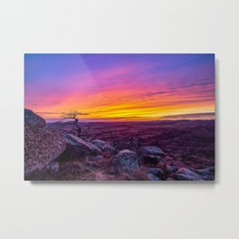 Hope and Heart - Scenic Sunset at Summit of Mount Scott in Oklahoma Metal Print