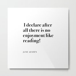 I DECLARE AFTER ALL  Metal Print