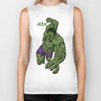 hulk Biker Tanks featuring Hulk by Kame Nico