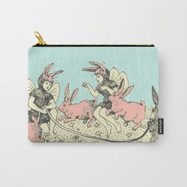 Frolicking Bunnies Carry-All Pouch