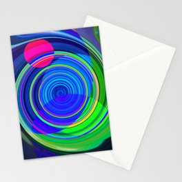 Re-Created Spiral Painting III by Robert S. Lee Stationery Cards
