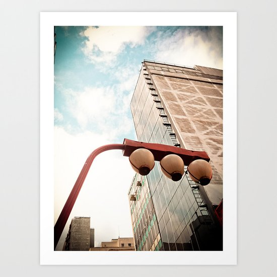 Sky and Building - Japanese Art Print