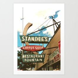 Chicago ~ Standee's Diner ~ Vintage Neon Sign Art Print