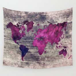 World map watercolor 7 Wall Tapestry