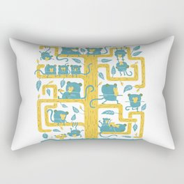 Monkeys Family Rectangular Pillow