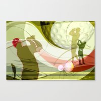 golf Canvas Prints featuring Golf by Robin Curtiss
