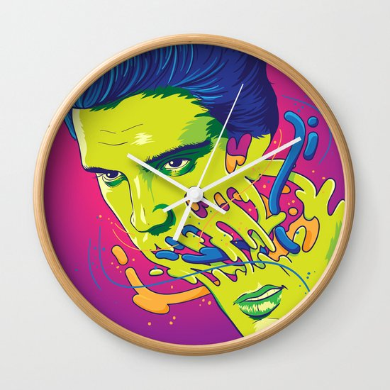 Happily melting Elvis Wall Clock