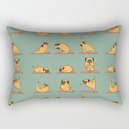 Pug Yoga Rectangular Pillow