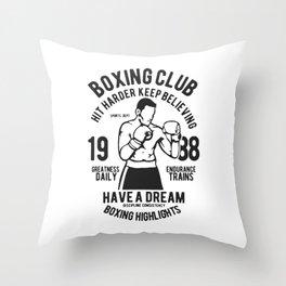 boxing club Throw Pillow