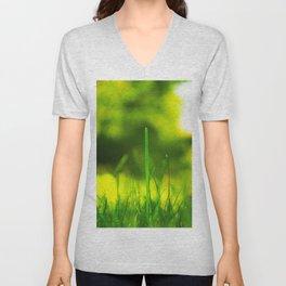 Blades Of Grass Macro Closeup Unisex V-Neck