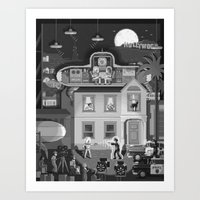 Scene #17: 'Visitors from outer space' Art Print