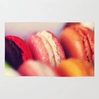 macaroons Area & Throw Rugs featuring Macaroons by Sushibird