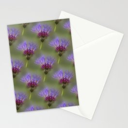 Cornflowers on blurry background Stationery Cards