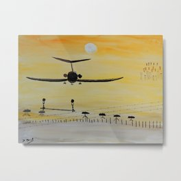 Yellow last flight Metal Print