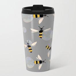 Bubble Bees Metal Travel Mug