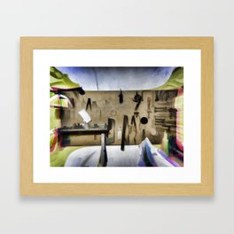 Carpenter woodworker Framed Art Print
