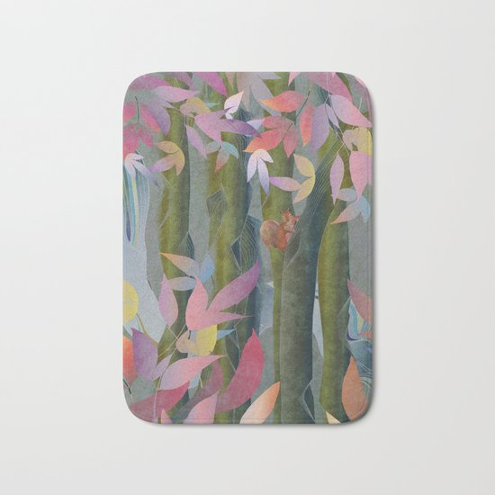 Autumn by a Waterfall Bath Mat