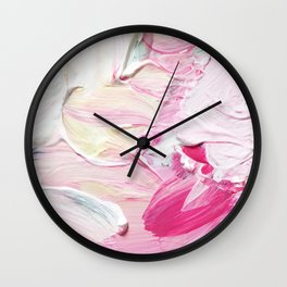 Minty Rose (Abstract Painting) Wall Clock