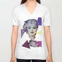 marilyn V-neck T-shirts featuring Marilyn by Esco