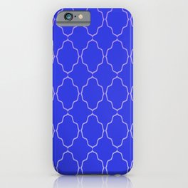 Diamond Grid Royal Blue iPhone Case
