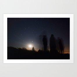 Moonrise Shadows Art Print