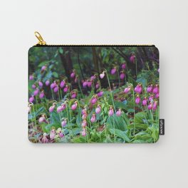 Wild Orchid Lady Slipper Forest Flowers Found in Rhode Island Carry-All Pouch