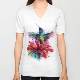 Rising from a Flower Unisex V-Neck