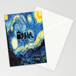 The Doctors Walking Of Starry Night Stationery Cards