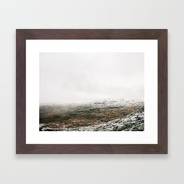 White winter mountain landscape | Norway travel photography print | Trolltunga Wanderlust art Framed Art Print