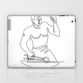 Blacksmith Hammer Continuous Line Laptop & iPad Skin