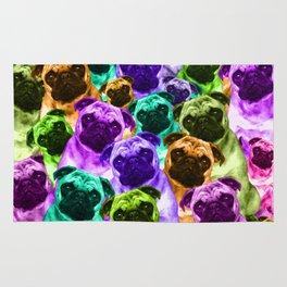 Colorful  Pug Pattern Rug