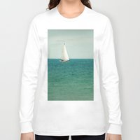 sail Long Sleeve T-shirts featuring Minty Sail by Pure Nature Photos