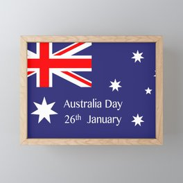 Australia Day Framed Mini Art Print