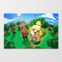 animal crossing Canvas Prints featuring Animal Crossing by Kaciel