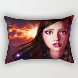 The impossible girl Rectangular Pillow