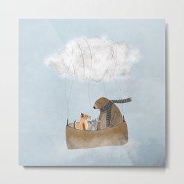 the cloud balloon Metal Print